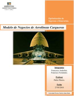 Modelo de Negocios de Aerolíneas Cargueras - ramos on