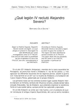 Qué legión IV reclutó Alejandro Severo - e