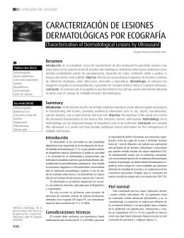 CaraCterizaCión de lesiones dermatológiCas por eCografía