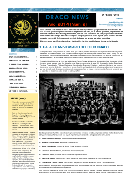 DRACO NEWS 2014 (2º Semestre)