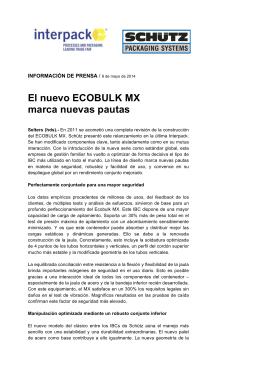 El nuevo ECOBULK MX marca nuevas pautas
