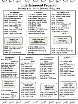 Entertainment Program