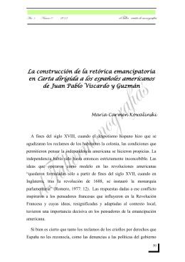 en Carta dirigida a los españoles americanos