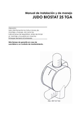 JUDO - Manual Biostat25TGA