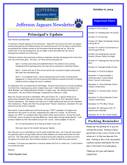 Jefferson Jaguars Newsletter