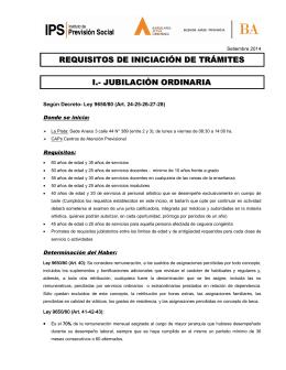 requisitos de iniciación de trámites i.- jubilación ordinaria