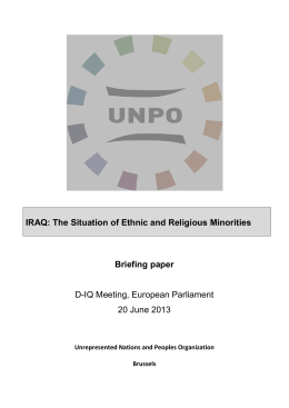 IRAQ: The Situation of Ethnic and Religious Minorities Briefing