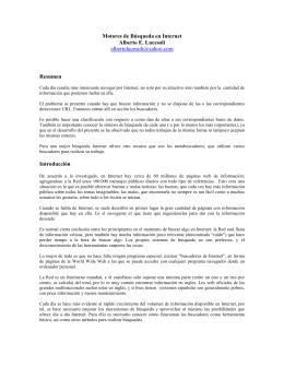 Motores de Búsqueda en Internet Alberto E. Lucesoli albertolucesoli