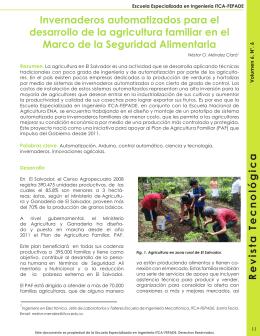 Revista Tecnológica Invernaderos automatizados para