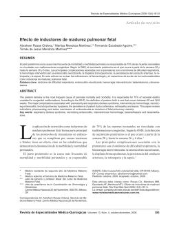 Artículo de revisión Efecto de inductores de madurez pulmonar fetal