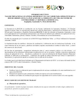 Informe Taller Trinacional Roavis
