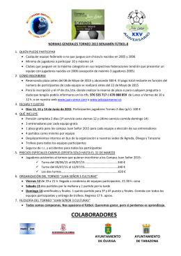 Normas del torneo en pdf