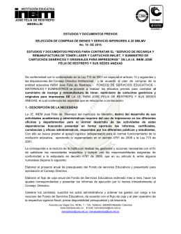 estudios previos - INEM José Félix de Restrepo