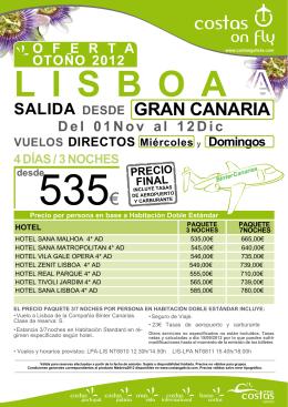 SALIDA DESDE GRAN CANARIA