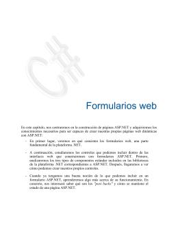 2. Formularios web ASP.NET