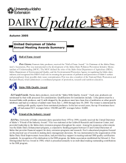 fall newsletter 2005.pub - University of Idaho Extension