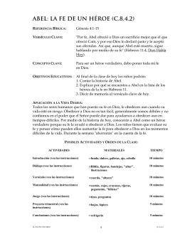 ABEL: LA FE DE UN HÉROE (C.8.4.2)