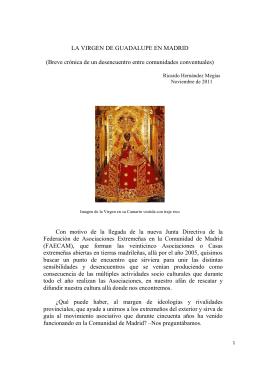 La Virgen de Guadalupe en Los Jerónimos de Madrid