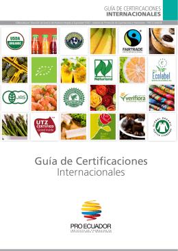 Guía de Certificaciones Internacionales