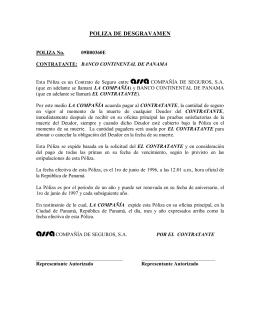 POLIZA DE DESGRAVAMEN