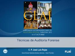 Técnicas de Auditoria Forense.