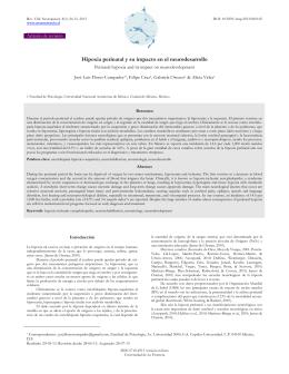 Hipoxia perinatal y su impacto en el neurodesarrollo