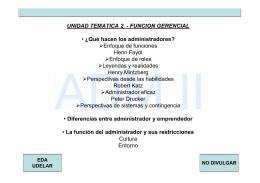 UNIDAD TEMATICA 2 - FUNCION GERENCIAL • ¿Qué hacen los