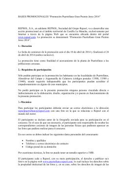 BASES PROMOCIONALES DE LA GUIA CAMPSA