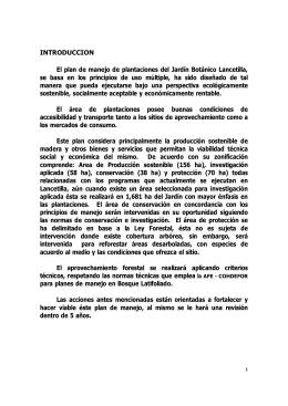 Plan de Manejo de las plantaciones de Lancetilla (2004) (archivo pdf)