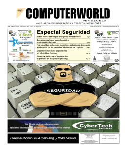 Edición 7_2010 - Computerworld Venezuela