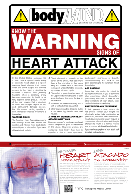 February 2012 - Warning Signs of a Heart Attack