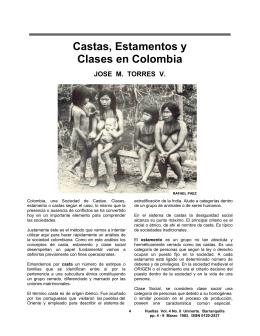 Castas, Estamentos y Clases en Colombia
