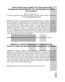 Caracterización química de tres residuos orgánicos provenientes