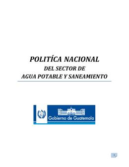 Política Nacional del Sector de Agua Potable y
