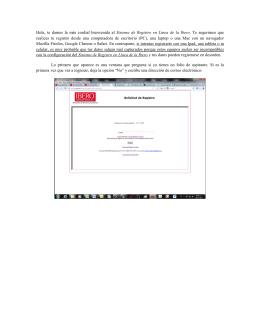 Manual del Registro en Línea