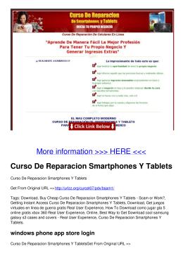Curso De Reparacion Smartphones Y Tablets
