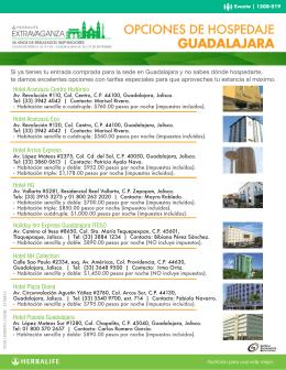 Hospedaje en Guadalajara Más información aquí