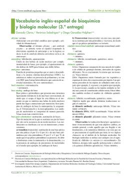 Vocabulario inglés-español de bioquímica y biología molecular (3.ª