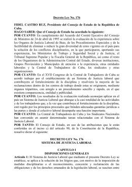 Decreto Ley No. 176 FIDEL CASTRO RUZ