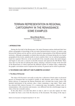terrain representation in regional cartography in the renaissance