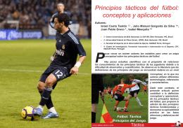 PDF Principios tácticos del fútbol: conceptos y aplicaciones