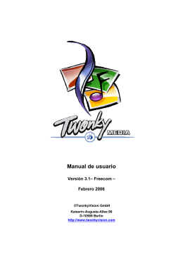 Freecom - TwonkyMedia User Manual 3.1 - Spanish