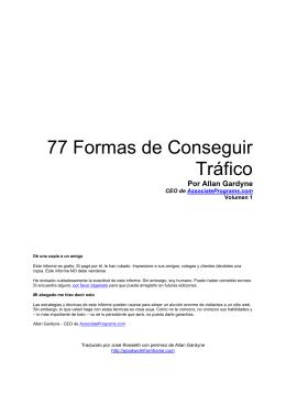 77 Formas de Conseguir Tráfico
