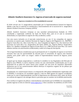Atlantic Southern Insurance Co. ingresa al mercado de