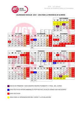 CALENDARIO ESCOLAR 2015-16 - FETE