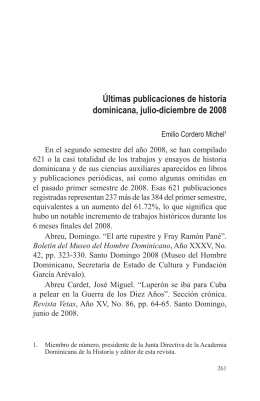 Últimas publicaciones de historia dominicana, julio