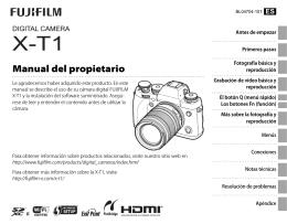 manual de la Fuji X-T1