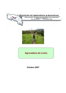 Agrocadena de Leche - Ministerio de Agricultura y Ganadería