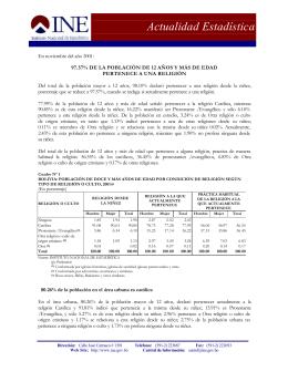 Actualidad Estadística - Instituto Nacional de Estadística de Bolivia