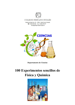 100 Experimentos sencillos de Física y Química